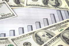Money with chart Stock Photos