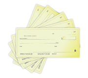 Money Checks illustration design over a white back Royalty Free Stock Photos