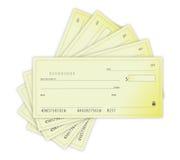 Money Checks illustration design over a white back