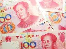 Money, China. Chinese 100 yuan money, Renminbi Royalty Free Stock Photography