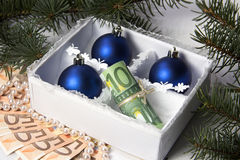 Money for Christmas Royalty Free Stock Image