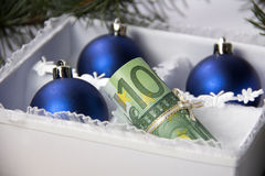 Money for Christmas Royalty Free Stock Images