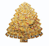 Money Christmas Tree Royalty Free Stock Photos