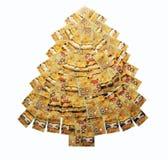 Money Christmas Tree. From hundred dollar bills Royalty Free Stock Photos