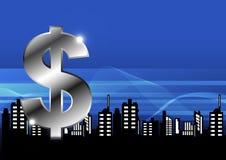 Money with city Stock Photos