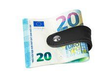 Free Money Clip Holding A Bunch Of Euro Royalty Free Stock Image - 134850996