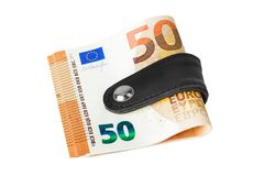 Free Money Clip Holding A Bunch Of Euro Stock Image - 165184781
