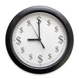 Money clock. A wall clock reminds us that Time Is Money Royalty Free Stock Image