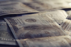 Money closeup. american hundred dollar bills Royalty Free Stock Images