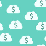 Money clouds, seamless pattern Stock Image