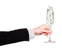Money Cocktail business concept toast Stock Photo