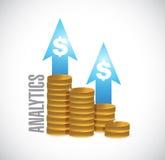 Money coin graph analytics Stock Photos