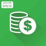 Money coin icon. Business concept dollar coins pictogram. Vector Stock Photography