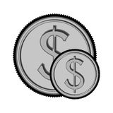 Money coin icon. Money coin. economy and financial item over white background. vector illustration Royalty Free Stock Photos