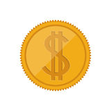 Money coin icon. Money gold coin icon.  economy and financial item. vector illustration Stock Photography