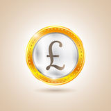 Money - Coin pounds. Vector illustration Royalty Free Stock Photography