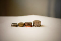Money coin stack. Growing business, Saving money concept, Business growth concept Royalty Free Stock Photos