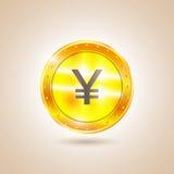 Money - Coin yen. Vector illustration. Money - Coin yen. Yen coins. Vector illustration Stock Photo