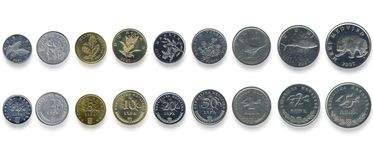Money coins. Croatian money change kuna lipa Stock Image