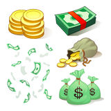 Money And Coins. Currencies for finance industries Royalty Free Stock Photo