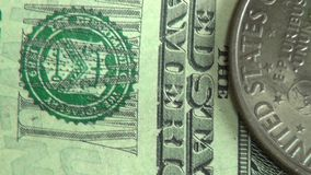 Money, Coins, Bills, Currency, United States of America stock video footage