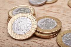 Money coins Brazilian Royalty Free Stock Image