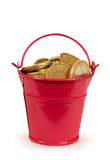 Money - coins bucket Royalty Free Stock Photos