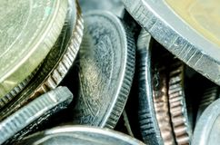 Money and coins: close up Royalty Free Stock Photos