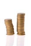 Money coins column Stock Photos