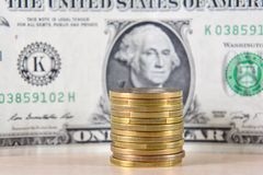 Money, coins, exchange Royalty Free Stock Photography