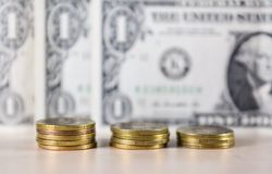 Money, coins, exchange Royalty Free Stock Photos