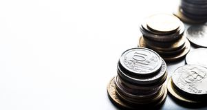 Money coins.Finance banking.Business investment.Saving Stock Photo