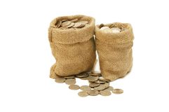 Free Money Coins In Bag Royalty Free Stock Image - 11745846