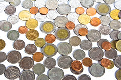 Money Coins metal stack Royalty Free Stock Images