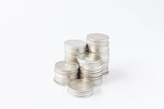 Money coins pile in banking concept Royalty Free Stock Photos