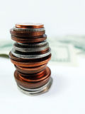 Money Coins Pile Close Up Royalty Free Stock Photo