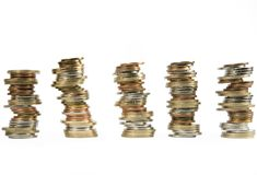 Money coins stacked up Stock Photo
