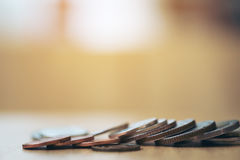 Money coins on table Royalty Free Stock Photo