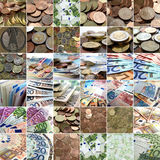 Money collage Stock Photography
