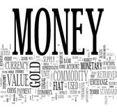 Money - collage of mixed words royalty free stock photos