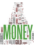 Money - collage of mixed words royalty free stock photography