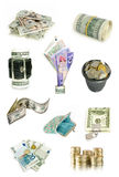 Money collection Stock Photos