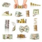 Money collection Stock Photos