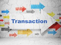 Free Money Concept: Arrow With Transaction On Grunge Wall Background Stock Image - 105466371
