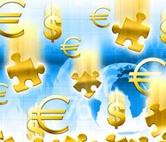 Money concept background. Money concept blue gold background vector illustration