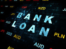 Money concept: Bank Loan on Digital background Stock Photos