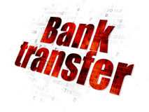 Money concept: Bank Transfer on Digital background Stock Photo