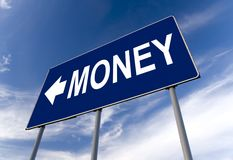 Money concept billboard Royalty Free Stock Image