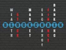 Money concept: Blockchain in Crossword Puzzle. Money concept: Painted blue word Blockchain in solving Crossword Puzzle Stock Image
