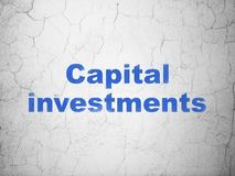 Money concept: Capital Investments on wall background Royalty Free Stock Photography